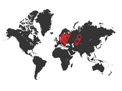 37 branches in Poland and abroad